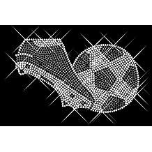 Luxflair brillantes diseño de fútbol, XXL brillantes diseño aprox. 15,2 x 9