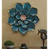 World Decor Iron Shine Flower Wall Decor Wall Hanging(26 * 05 * 26 in)