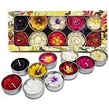 Hana Blossom - Lot de 10 bougies plates parfumées