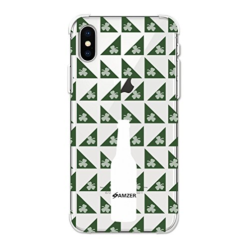 AMZER® Designer Soft Gel TPU Case - Beer and Pattern with shemrock - Green