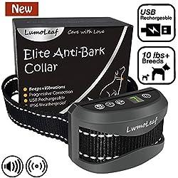 LumoLeaf Signalton Vibration Anti-Bell Hundehalsband, USB Wiederauflladbares Trainingshalsband für alle Hunderassen und Größen mit 3 Modi, von Hundetrainern empfohlenes Kontrollgerät