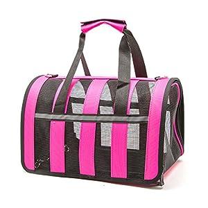 Hundetasche,Vicstar Hundetragetasche, Katzentragetasche, Tragetasche Transportbox, Oxford Tuch + Atmungsaktiv Netzfenster Transporttasche für Kleine Hunde und Katzen, Meistens 4 KG