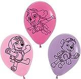 5 Luftballons * PAW PATROL - PINK * als Deko für Kindergeburtstag und Motto-Party // Set Kinder Geburtstag Ballon