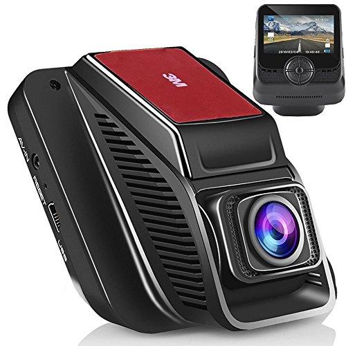 Modohe WiFi Caméra de Voiture Full HD 1080P Grand Angle de 170° Caméra Embarquée, Enregistrement En Boucle, Détection de Mouvement, Dashcam Voiture Avec Objectif Réglable Écran 2.45 Pouces LCD