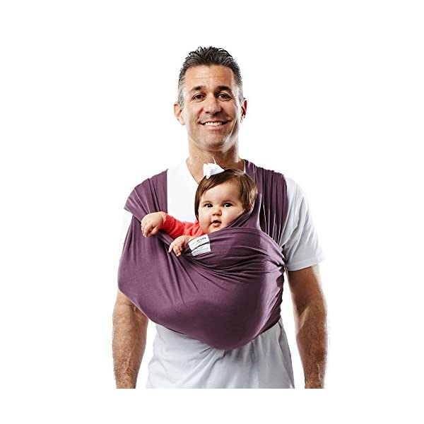 Baby K'Tan Cotton Egg Plant Baby Carrier (Medium) Baby Ktan Easy to use and put on: NO WRAPPING INVOLVED.  6 positions to conveniently carry baby & toddlers from 8 lbs to 35 lbs 100% soft natural cotton with unique one-way stretch Unique HYBRID double-loop design holds baby securely and evenly distributes weight across back and both shoulders. Washer & dryer safe 1
