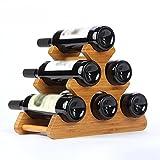 Wine Racks European Massivholz Wein Rahmen Lagerung Form Bambus Display-Ständer Haushalt sechs Flaschen Wein Rahmen