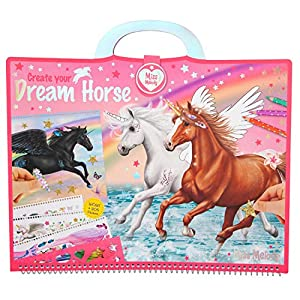 Depesche- Libro para Colorear Miss Melody, Create Your Dream Horse, Aprox. 30,5 x 33 x 1,5 cm, Color carbón (10898)