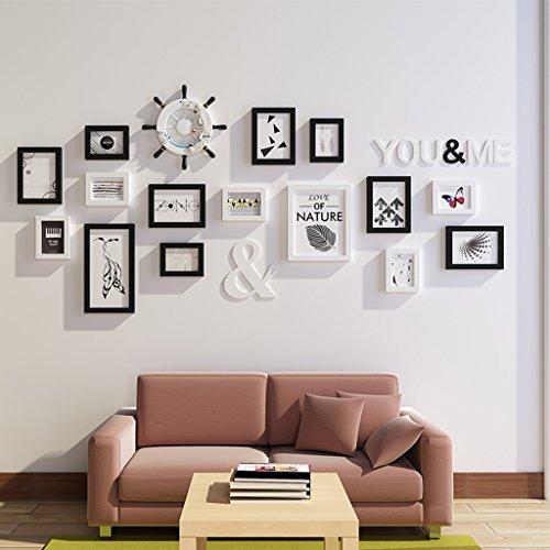 Cadre de Mur Photo Méditerranéenne Style Photo Mur Creative Photo Mur Mur Combinaison Salon Chambre Entrée Photo Mur Rudder Style Européen Design à la Mode (Couleur : A)