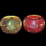 Handcrafted Mosaik Glas Kerzenhalter Kerzenständer Jahrgang Candelabra Bunte Romantische Hochzeit Heim Tabelle Hochzeit Dekor-Geschenk