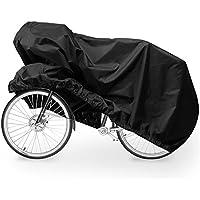 Copri Bicicletta, Migimi Telo Copribici Impermeabile Telo Copertura Bici Bicicletta Resistente Antipolvere Anti-UV per Esterni 200x70x110CM (XL), Nero