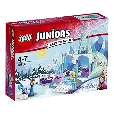 LEGO - 10736 - Juniors - Jeu de Construction - L'aire de jeu d'Anna et Elsa