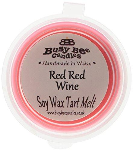 Scheda dettagliata Busy Bee Candles-Tart in Cera, Motivo Gelato Che Si scioglie, per Vino Rosso, Set da 6