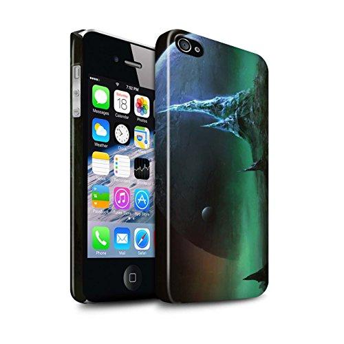 Offiziell Chris Cold Hülle / Glanz Snap-On Case für Apple iPhone 4/4S / Einfrieren Muster / Fremden Welt Kosmos Kollektion Saphir Spitzen