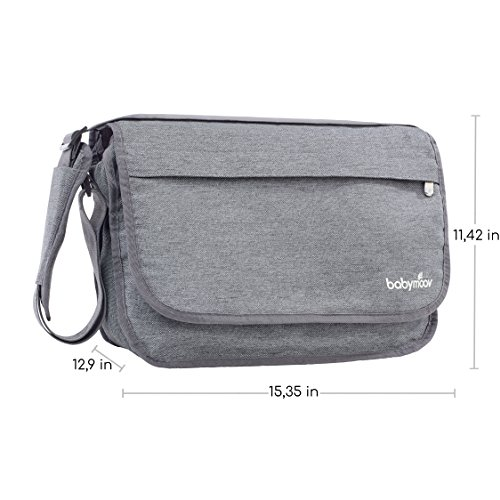 Babymoov Wickeltasche Messenger Bag, smokey - 2