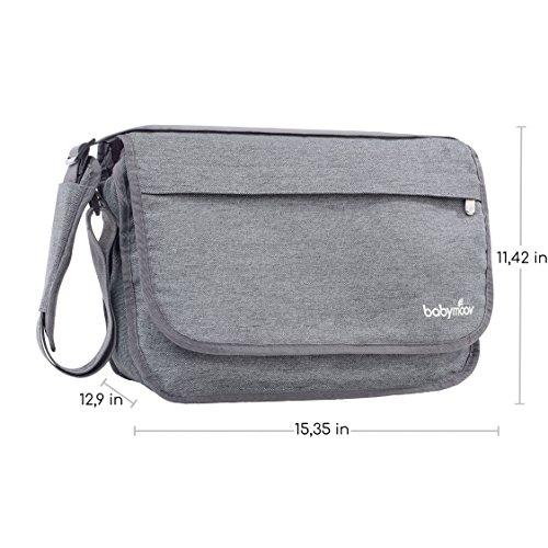 Babymoov Wickeltasche Messenger Bag, smokey - 2