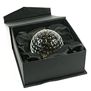 A QUALITY GIFT FOR A MAN FOR CHRISTMAS, HIS BIRTHDAY, YOUR ANNIVERSARY (CRYSTAL GLASS GOLF BALL PAPERWEIGHT)