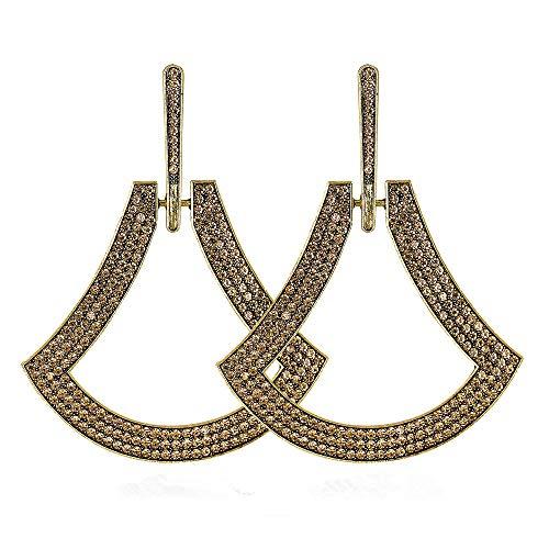 Andouy Mode Frauen geometrische baumeln Tropfen Aussage Ohrringe Schmuck Geschenk(Gold)