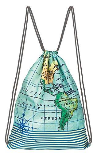 moses. Fernweh Rucksack   Faltbarer Backpack   umweltfreundlich   Turnbeutel