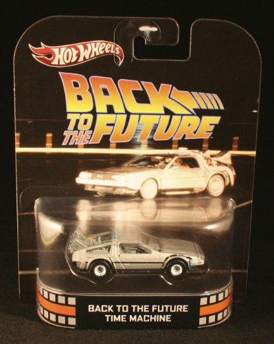 Hot Wheels Retro Back to the Future 1:55 Die Cast Car DeLorean Time Machine