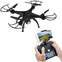 Drohne mit Kamera,AMZtronics RC Quadrocopter 2.4GHz 6-Achsen-Gyro Drohne mit 2,0 MP HD Kamera FPV Monitor Video Live 3D Flip Funktion