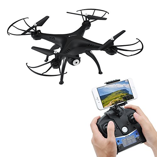 AMZtronics Drohne mit Kamera T20CW RC Quadrocopter 2.4GHz 6-Achsen-Gyro Drohne mit 2,0 MP HD Kamera FPV Monitor Video Live 3D Flip Funktion für Anfänger geeignet (Rc-flugzeug Sie Einen Bauen)