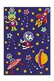 Arte Espina Teppich Spirit Glowy 3144 Violett Space 110cm x 160cm