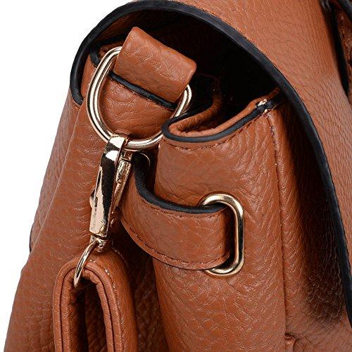 Premium Leather, Borsa tote donna Brown
