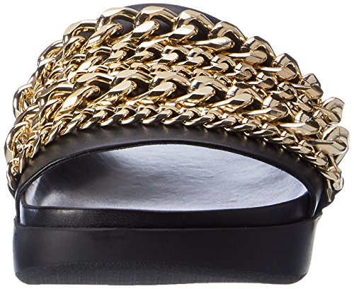 Kendall and KylieKkshiloh2 - Ciabatte Donna Schwarz (Black Nappa / Gold)