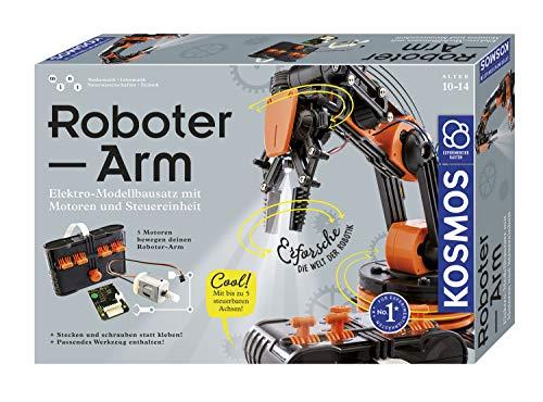 KOSMOS Roboter-Arm, Modellbausatz für deinen elektrischen Roboterarm, mit 5 Motoren...