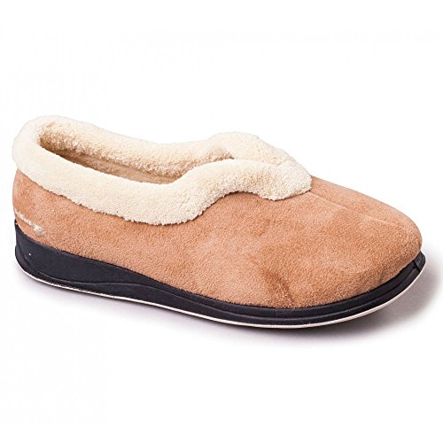 Padders – Carmen Donna microsuede Extra Wide (ee), Full Pantofole Cammello Camel