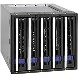 Icy Dock MB155SP-B recinto de almacenaje - Disco duro en red (SATA, Serial ATA II, Serial ATA III, Negro)
