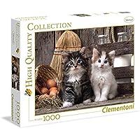 Clementoni - Puzzle de 1000 piezas, diseño gatas (39340.4)