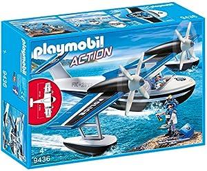 Playmobil- Hidroavión de Policía Juguete, (geobra Brandstätter 9436)
