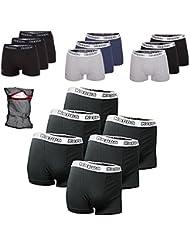Kappa Boxershorts Ziatec Edition, Boxer-Short in den Größen S, M, L, XL, 2XL, 3XL, 4XL, Unterhose, Unterwäsche 3er, 6er, 9er oder 12er Pack, Farbe:schwarz, Größe:3 Stück 4XL