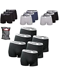 Kappa Boxershorts Ziatec Edition, Boxer-Short in den Größen S, M, L, XL, 2XL, 3XL, 4XL, Unterhose, Unterwäsche 3er, 6er, 9er oder 12er Pack