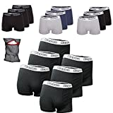 Kappa Boxershorts Ziatec Edition, Boxer-Short in den Größen S, M, L, XL, 2XL, 3XL, 4XL, Unterhose, Unterwäsche 3er, 6er, 9er oder 12er Pack, Größe:6 Stück 4XL, Farbe:schwarz / schwarz