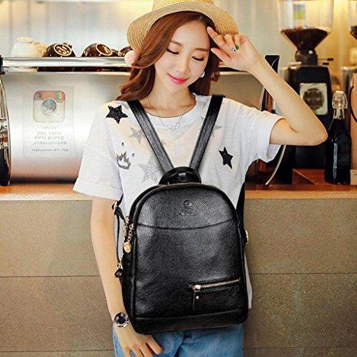 Y&F Reiserucksack Rucksack Schultertaschen Handtasche Freizeitpaket 28 * 14 * 33 Cm Black