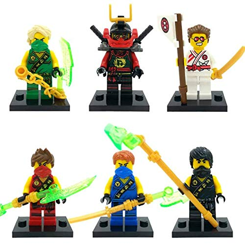 New Brand 6 pcs/Set Ninja Heroes Building Block Figures Toys Quality Action Toys Ninja Gold Figures