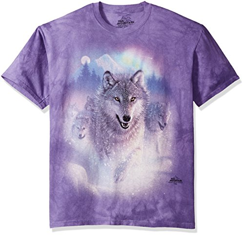 "The Mountain T-Shirt ""Northern Lights"" Blau"