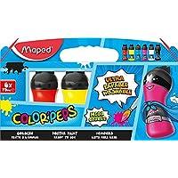 Maped Color'Peps Standard Colours Paint Pots X6