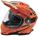 Viper RXV288 Integral Motocross Enduro MX On Off Road Abenteuer Dreckiges Fahrrad Quad BMX ATV Motorrad Helm (XS-XL, Mehrfarben) - Flame Matt Orange - XL
