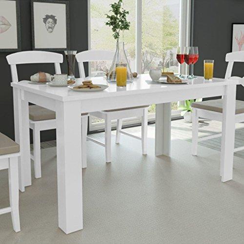 Fesjoy Mesa Comedor Blanca Simplicidad Cocina Habitación