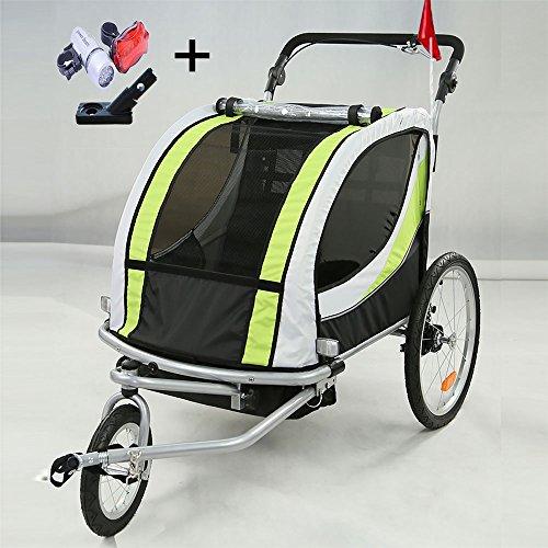 Style home 2 in 1 Fahrradanhänger Kinderanhänger 360° drehbar