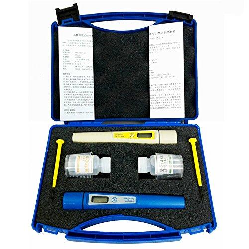 CGOLDENWALL Digital Wasser Qualität Tester Digital EC TDS Meter Reichweite Bei 0~ 1999µs/cm 0,00~ 14.00PH Multifunktional Wasser Reinheit Test Set für Haushalt Leitungswasser Trinkwasser Tank