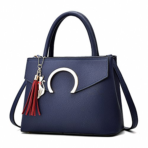 AILEESE, Borsa tote donna blu Navy blue medium Navy blue