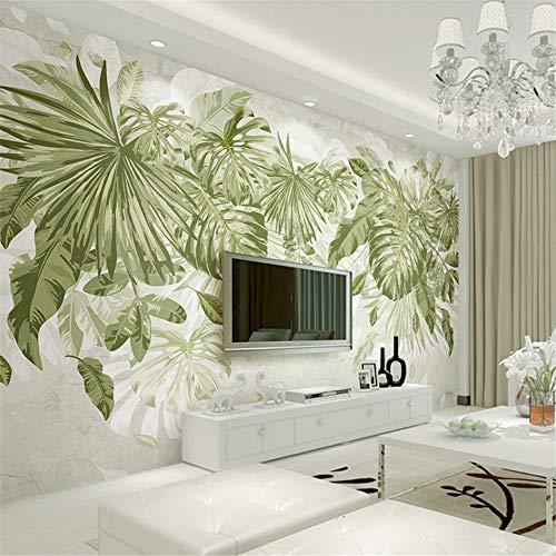 Hwhz Fototapete Tropical Green Plants 3D Wandmalereien Wohnzimmer Schlafzimmer Hintergrund Wand Wohnkultur3D-250X175Cm