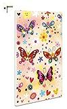 B-wie-Bilder.de Magnettafel Pinnwand Motiv Kinder Mädchen Schmetterling Größe 40 x 60 cm