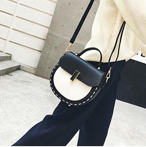 QPALZM Womens Leder Abend Wristlet Handtasche Schulter Kreuz Körper Tasche Mit Black