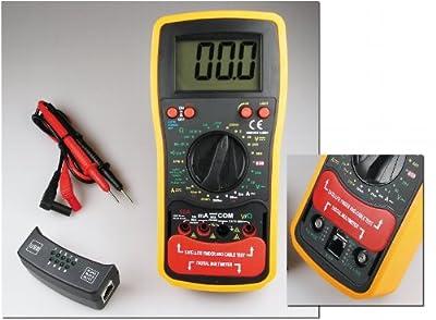 Digital-Multimeter CTM-53pro, drei Geräte in Einem: professionelles Digital-Vielfachmessgerät, Kabeltester und Satelliten-Finder von Downtown - Lampenhans.de