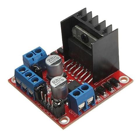 Bheema L298N h à double pont de commande de moteur pas à pas dc carte contrôleur de module pour Arduino